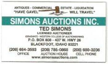 Simons Auction Logo